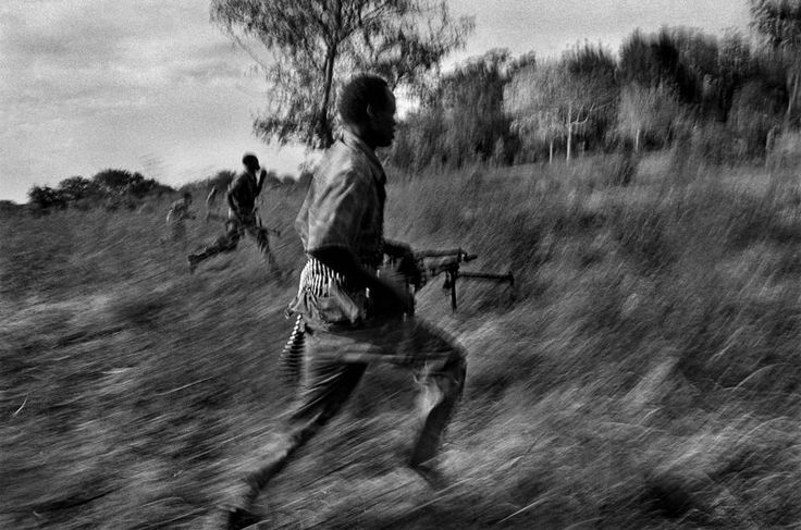 Abbas. SUDAN. Akobo. 1998. Troops of the South Sudan Independence Army on manoeuvre.