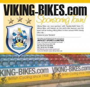 Viking Bikes now sponsor Huddersfield Town FC
