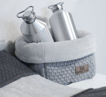Cute fabric basket, grey, boy, nursery, decoration