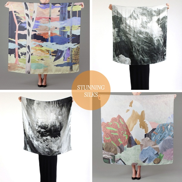 pretty silk scarves