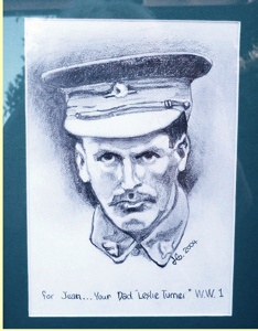 My pencil drawing portrait of my grandfather in his Australian 1st WW uniform. Copyright.