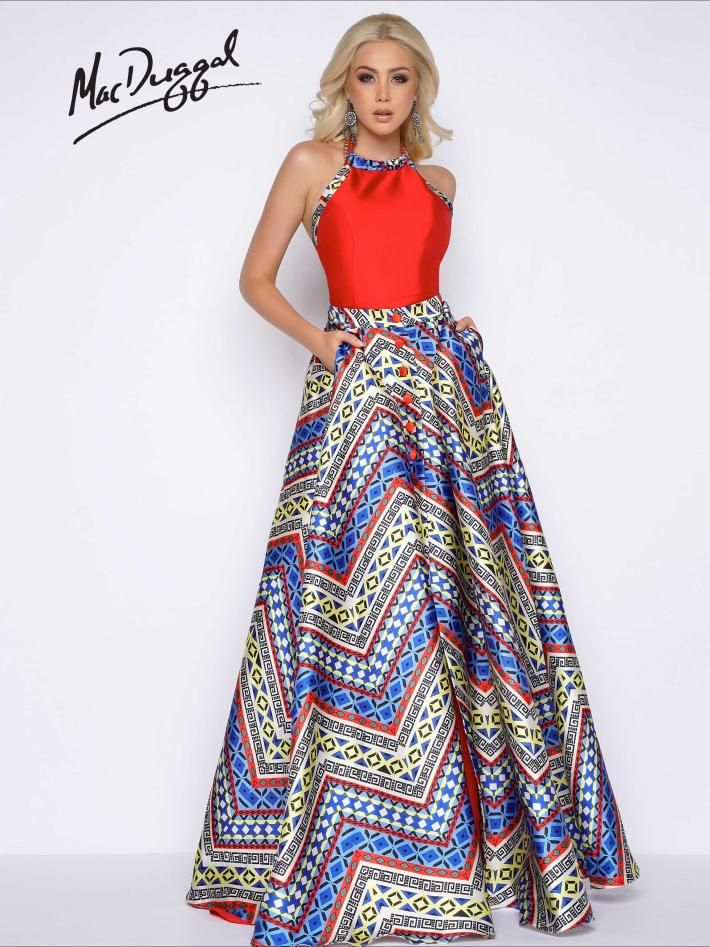 Aztec Romper Prom Dress with Overskirt | Mac Duggal 30436A