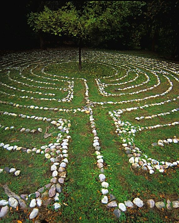Labyrinth: an ancient walking prayer.  Walking toward the center, let go of concerns, stresses, distractions. Stay a bit in the center, open to clarity and insight.  Walking back out, find renewal and refreshment.