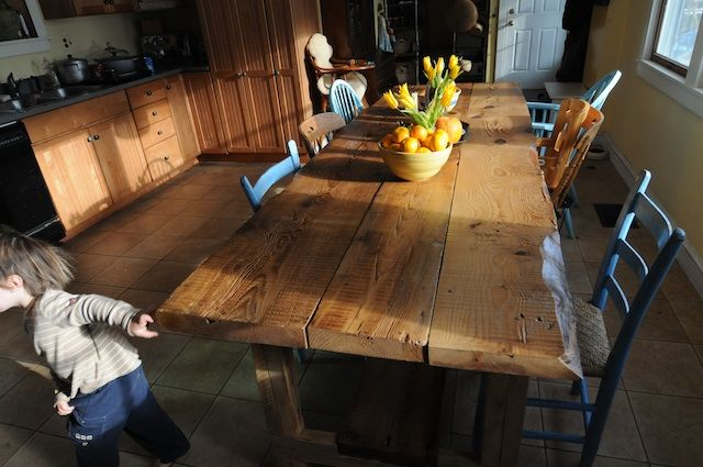 I want this dining room table: Woods Tables, Kitchen Tables, Harvest Tables, Kitchens Tables, Farmhouse Tables, Wooden Tables, Farms Tables, Beautiful Farmhouse, Handmade Farmhouse