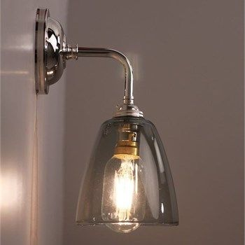 Pluckley Wall Light with Smoked Glass Shade