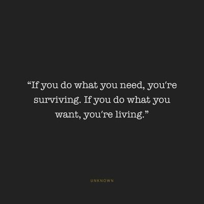 the difference between surviving and living