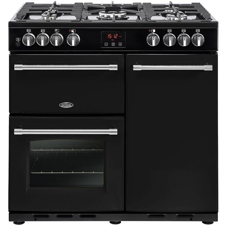 Belling FARMHOUSE 90DFTBLK - 4121 90cm Dual Fuel Range Cooker   Appliance City