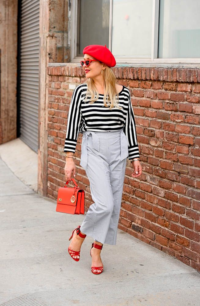a09ae155 Navy Stripes & Red Accessories. stripes, red beret, Seasonal Style, OOTD,  fashion blogger, women's fashion, street style, outfit inspiration, outfit  ideas, ...