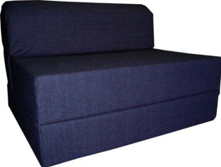 Amazon Com Denim Sleeper Chair Folding Foam Bed Sized 6