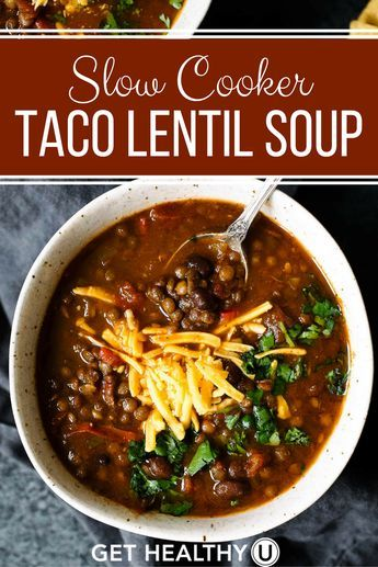 This Slow Cooker Taco Lentil Soup recipe is delicious, freezer-friendly, vegan, gluten-free, easy-to-make and packed with nutritious ingredients! It's packed with plant-based protein and its variety of spices make it super flavorful. It's the perfect meal to keep you warm during these cool winter months.