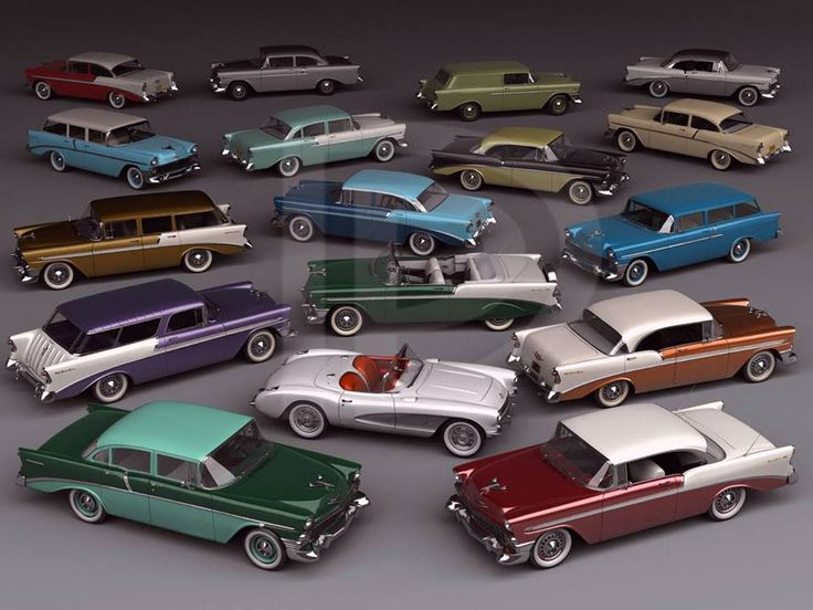 1956 Chevy lineup
