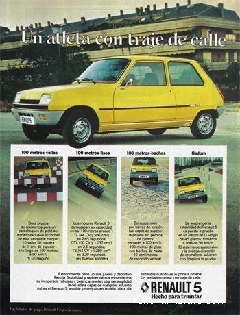 R5. Renault 5, una maravilla de la época.