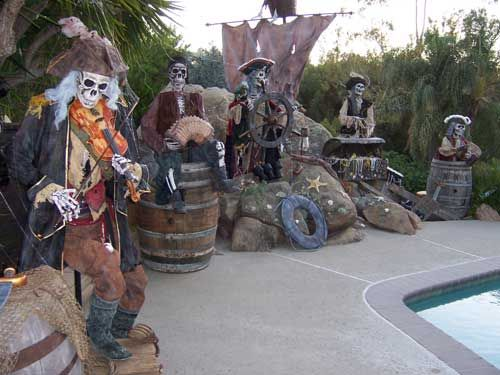 show next photo - Pirate Halloween Decorations