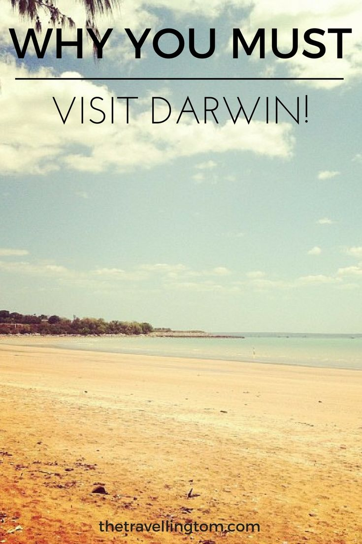 You simply have to visit Darwin while you're travelling Australia!  The city in the Top End of the Northern Territory is a tropical place unlike any other in Australia!  Beautiful beaches, lazy days at the lagoon and some great historical sites are just a few of the things to do in Darwin!  Check out my Darwin travel guide for more!