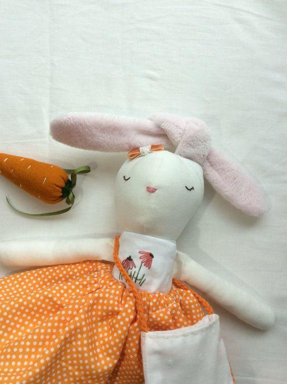 Bunny rag doll Cotton tail doll easter doll Ready to ship