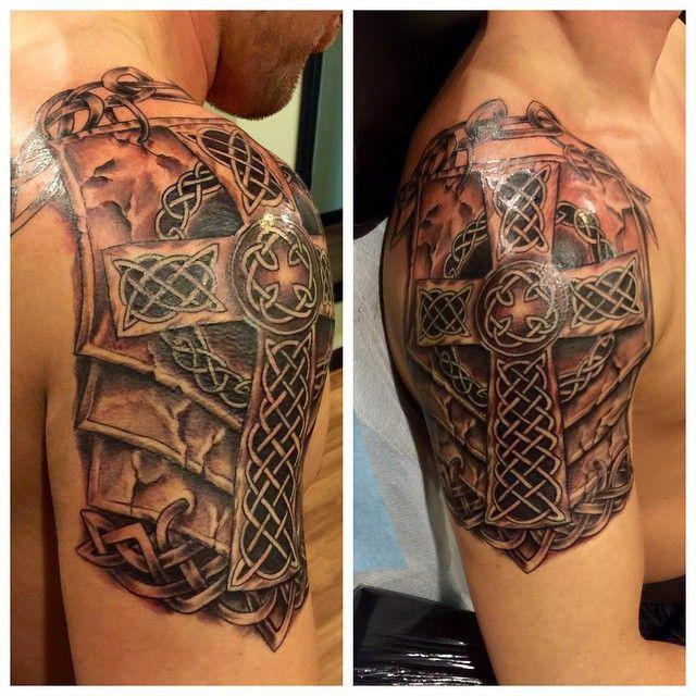 Awesome Celtic cross tattoo!