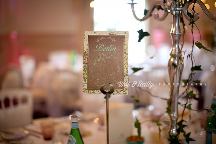 Vintage map table name design! #appleberrypress #realbrides