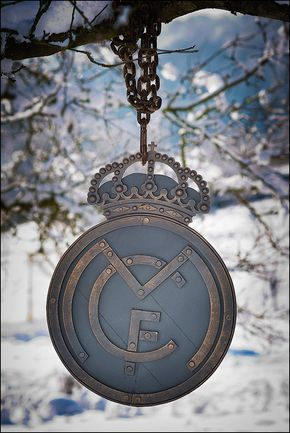 Real Madrid mano forjada decoración de paredes logo del Real