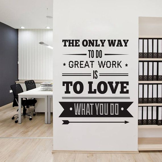 Office Decor Typography Inspirational Quote - Wall Decoration Art - Success Quote - The Only Way to Do Great work, is to Love What you Do on Etsy, $62.60