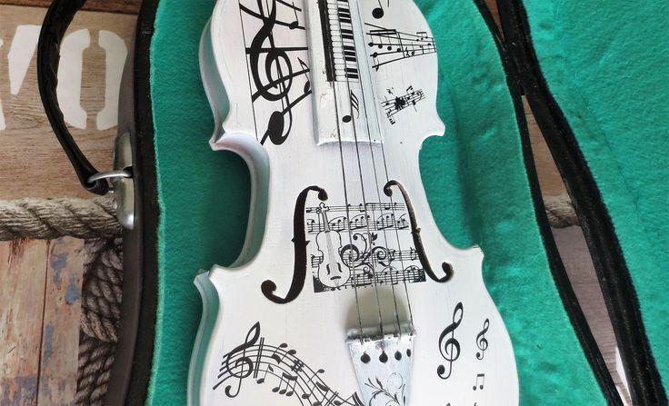 Viool kunst handwerk muziek thema door DDDesignCrafts op Etsy