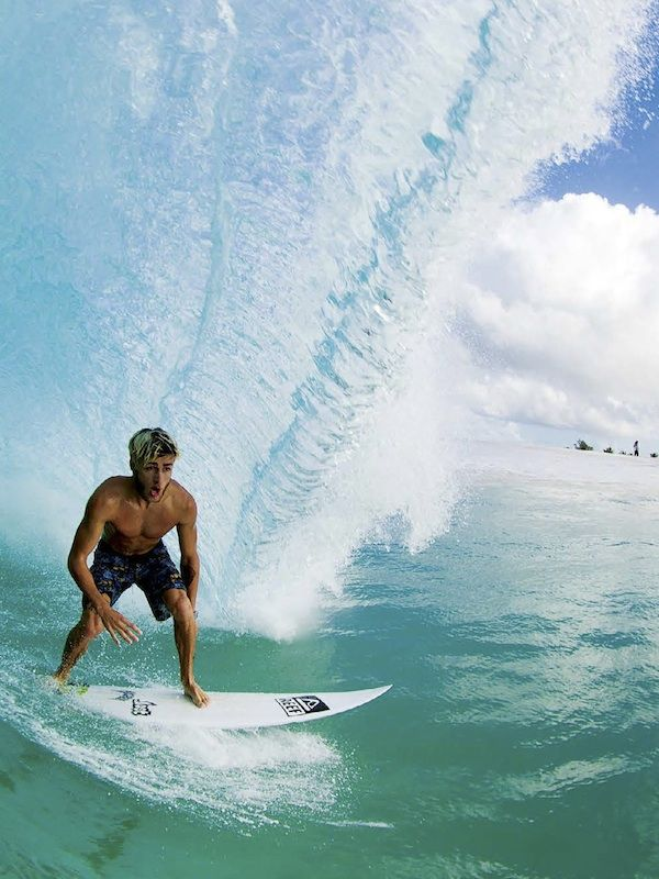 Luke Davis, surfing the tropics. Photo: Jimmicane