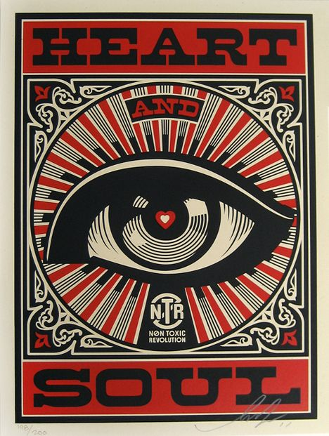 Flyer Goodness: Non-Toxic Revolution Posters Designed by Shepard Fairey & Studio Number One