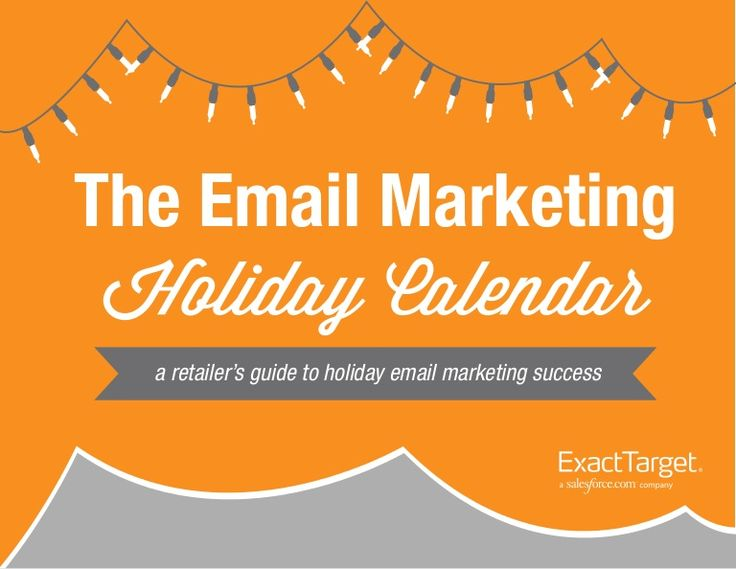 #emailmarketing holiday planning calendar from ExactTarget