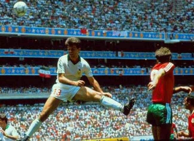 México frente a Bulgaria en la Copa del Mundo 1986