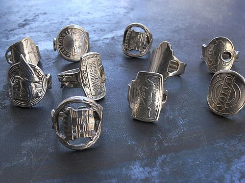 Cast from actual Keys, these unisex rings by young New York-based designer Kiel Mead are a fun way to celebrate an old car or an apartment