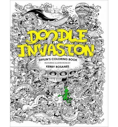 Doodle Invasion Zifflins Coloring Book Paperback