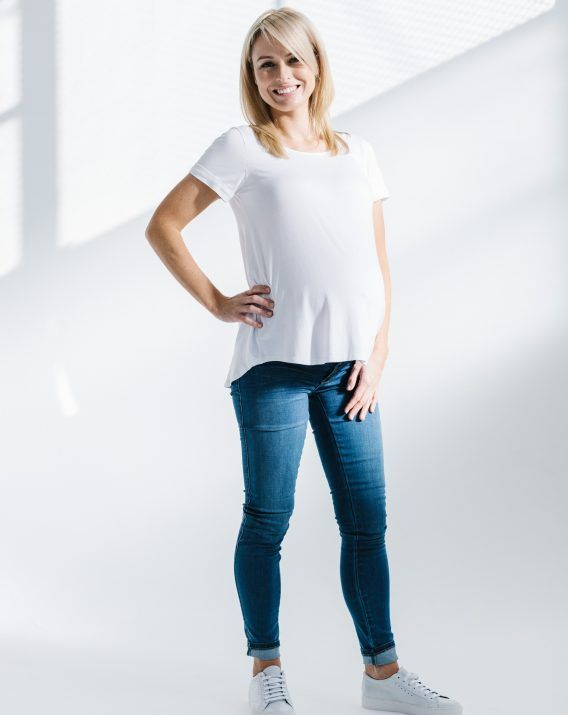 Lucy Slouch Tee White - Blossom & Glow