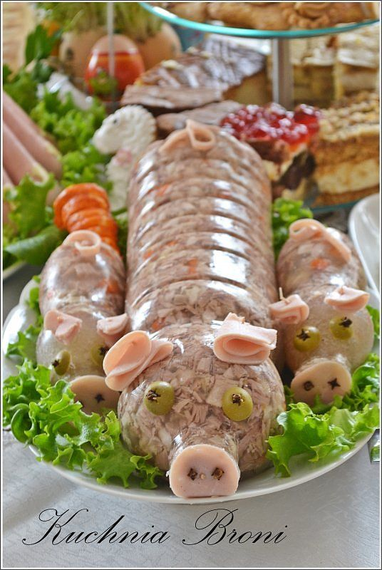 Galareta wieprzowa świnka i prosiaczki