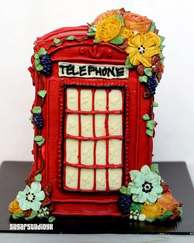 Public Telephone Box Cake~ Cek @sugarstudioyk untuk bermacam custom cake-mu. Berlaku area Jogja