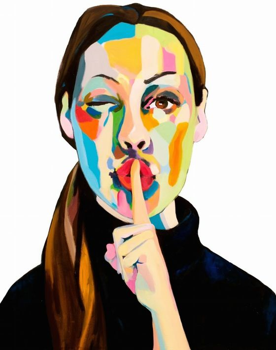 Mute, by Swedish Artist Emma Tingård. Art, painting, portrait, art poster, art print, Emma Tingard