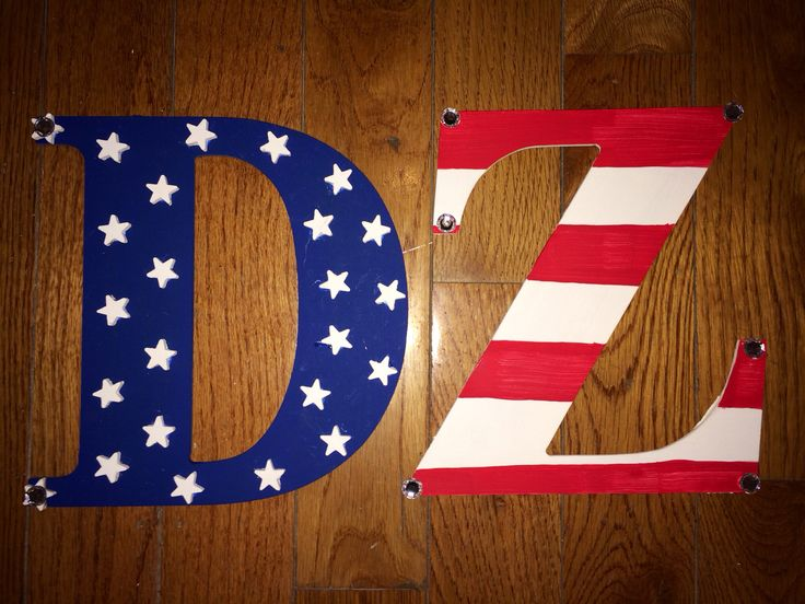 delta zeta american flag letters deltazeta sororityletters crafting