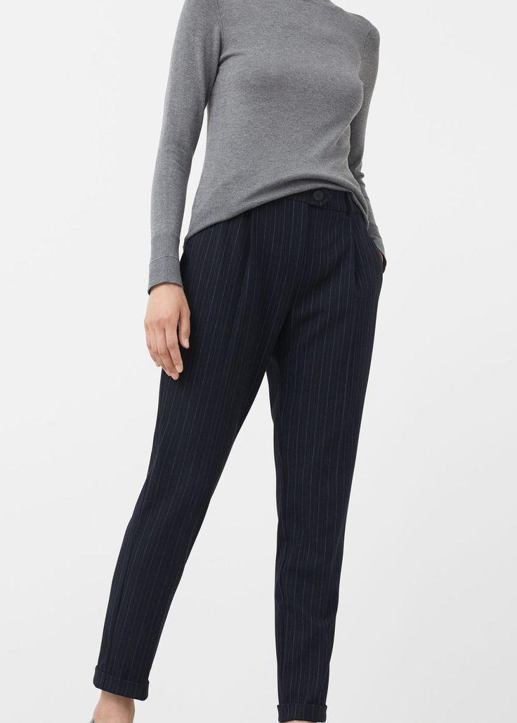 Striped trousers - Pants for Women   MANGO USA