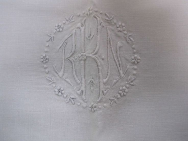 2 antique linen twin bed sheets w monogram u0026 2 matching p - Twin Bed Sheets
