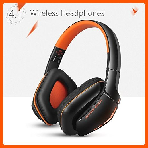 KOTION EACH B3506 Bluetooth Headphones for PS4, Wireless Headset with Microphone, Noise Isolation Foldable Gaming Headset with mic, for PlayStation 4 PC Mac Smartphones Computers Laptops (Orange) - Audio gadgets (*Amazon Partner-Link)