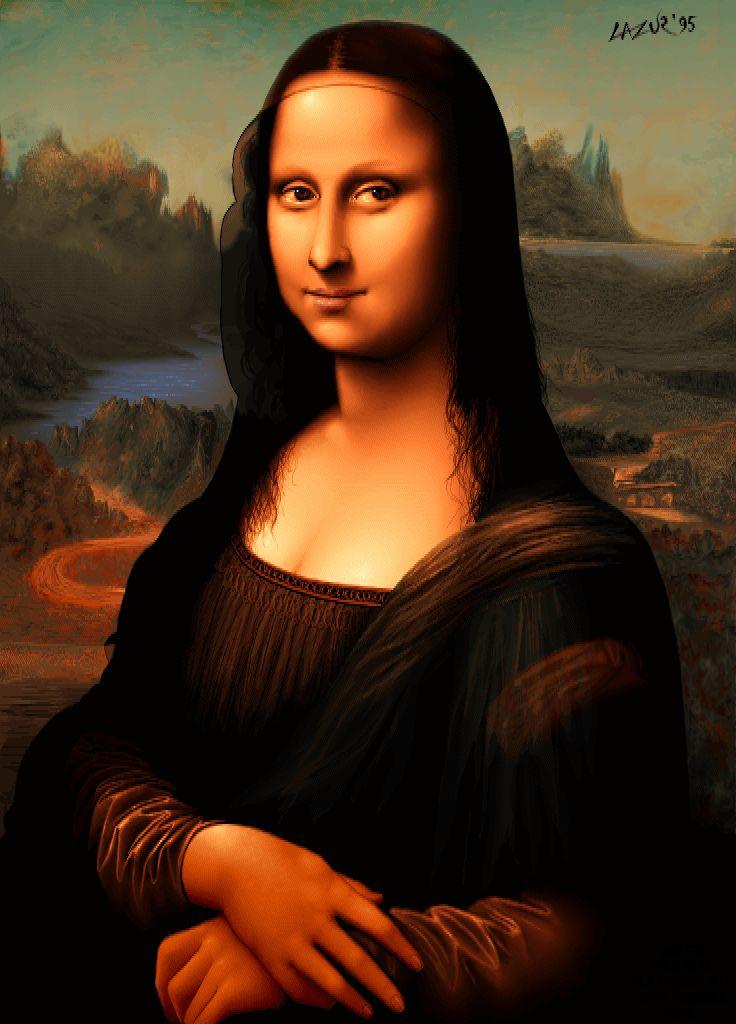 Mona Lisa - redraw - pixel art from old Amiga