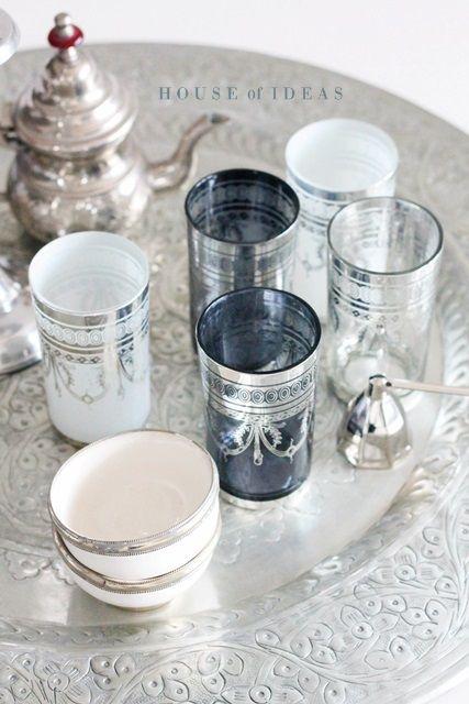 Marooccan tea glasses/tea service