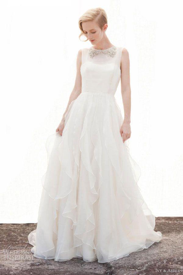 Ivy & Aster Fall 2013 bridal collection, mariée, bride, mariage, wedding, robe mariée, wedding dress, white, blanc