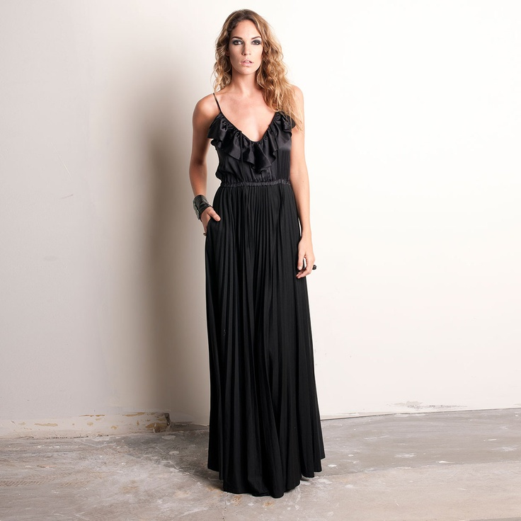 Fab.com | Mix Maxi Dress Black
