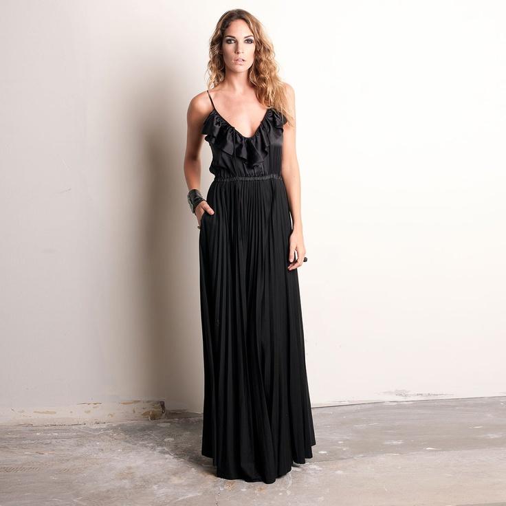 Fab.com   Mix Maxi Dress Black