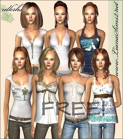 Liana Sims2 - Clothes for your Sims - free downloads to fashion up your sims 2 and sims 3 games!