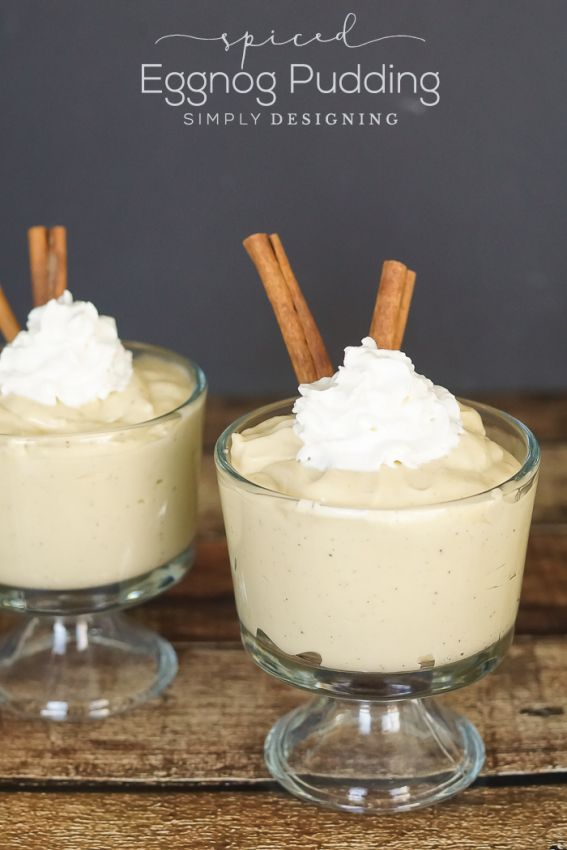 Spiced Eggnot Pudding Recipe - this is such a rich and delicious dessert for the holiday season