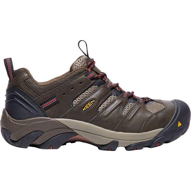 Keen Men's Lansing Low Steel Toe Work Shoes, Brown