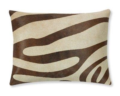 Our Zebra Hide Pillow Cover #WilliamsSonoma #interiordecorating