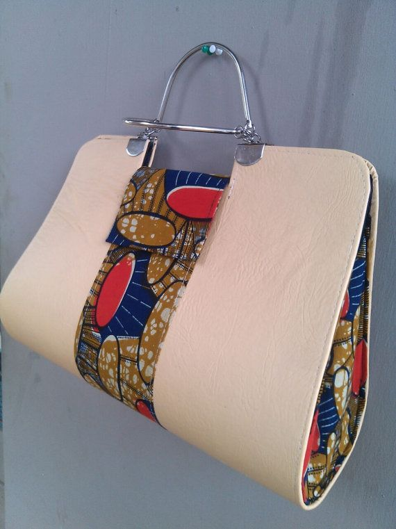 African Fabric Handmade Bag Ankara Design by EJAfricanProducts