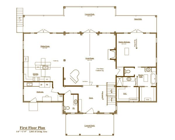 51 best houses images on pinterest floor plans house for Timber frame house plans for sale