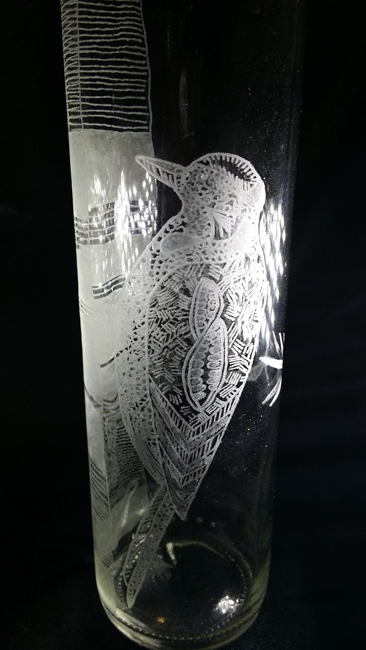 water bottle hand engraved